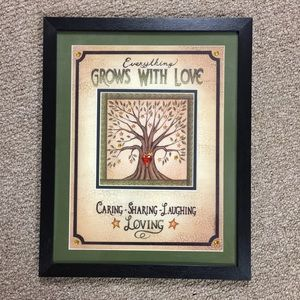 Everything Grows With Love Framed Wall Art
